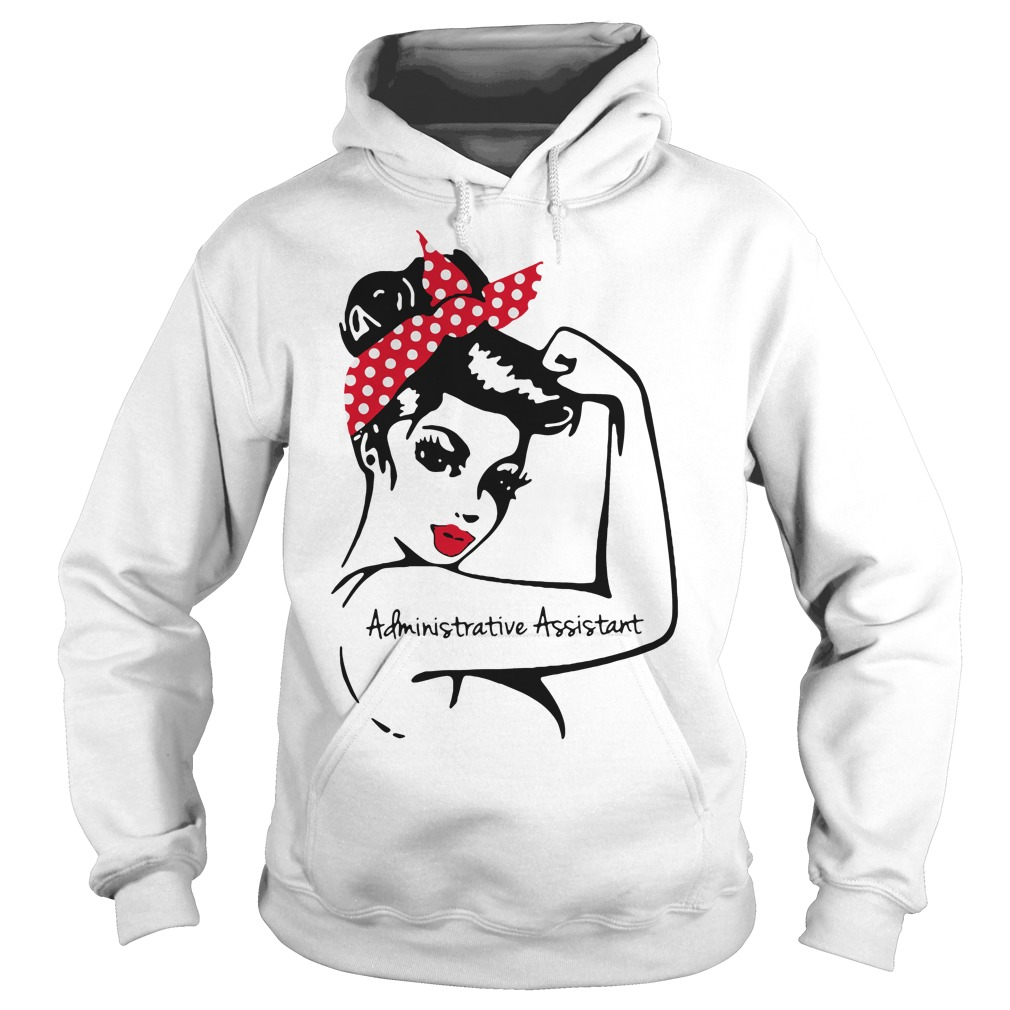 Rosie pin up breast cancer Administrative assistant Hoodie
