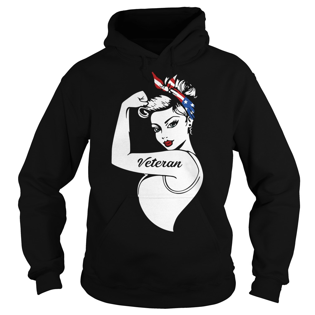 Rosie pin up breast cancer Veteran Hoodie