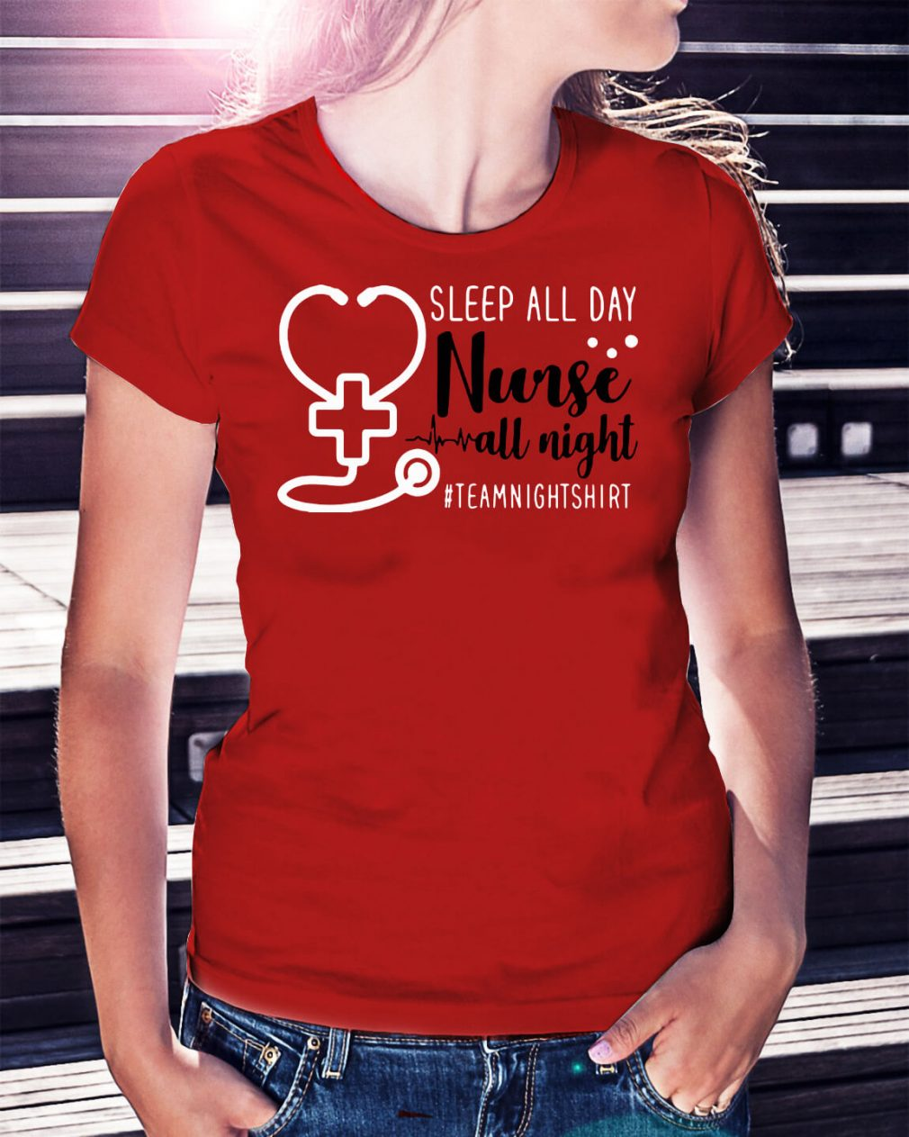 Sleep all day nurse all night team night shirt