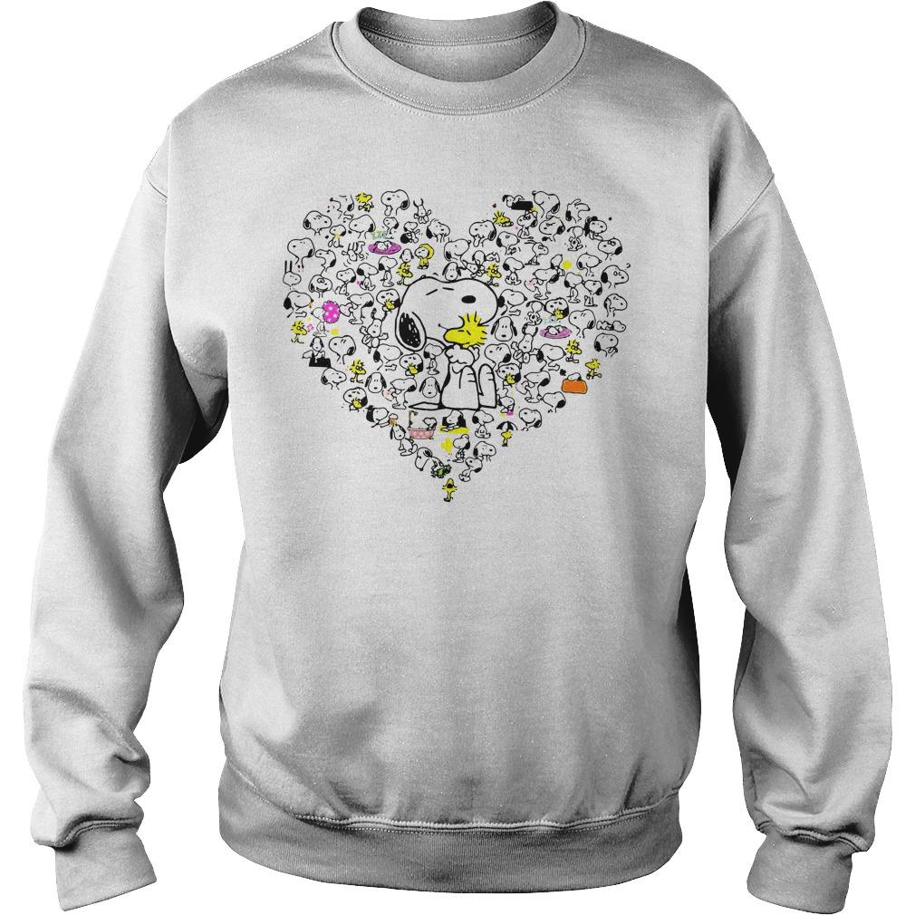 Snoopy hug Woodstock and hearts Sweater