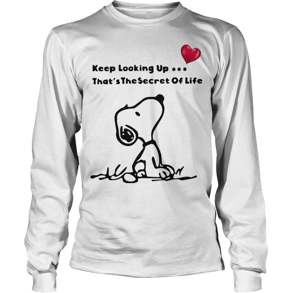 Snoopy keep looking up that's the secret of life Longsleeve Tee