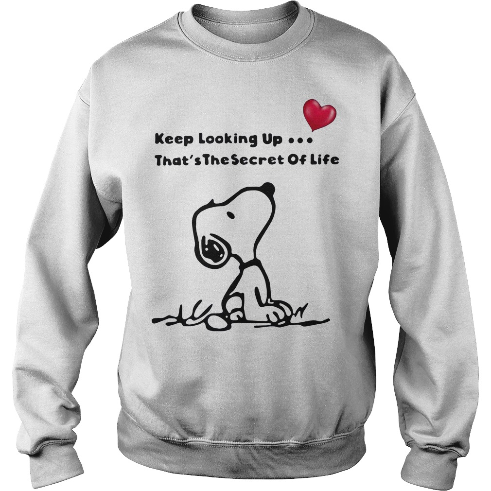 Snoopy keep looking up that's the secret of life Sweater