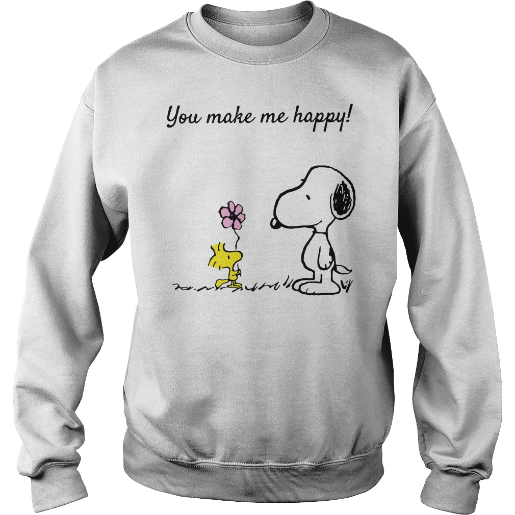 Snoopy and Woodstock you make me happy Sweater