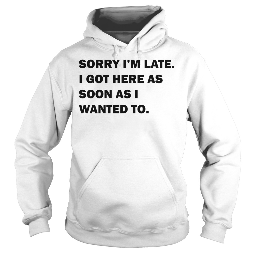 Sorry I'm late I got here as soon as I wanted to Hoodie