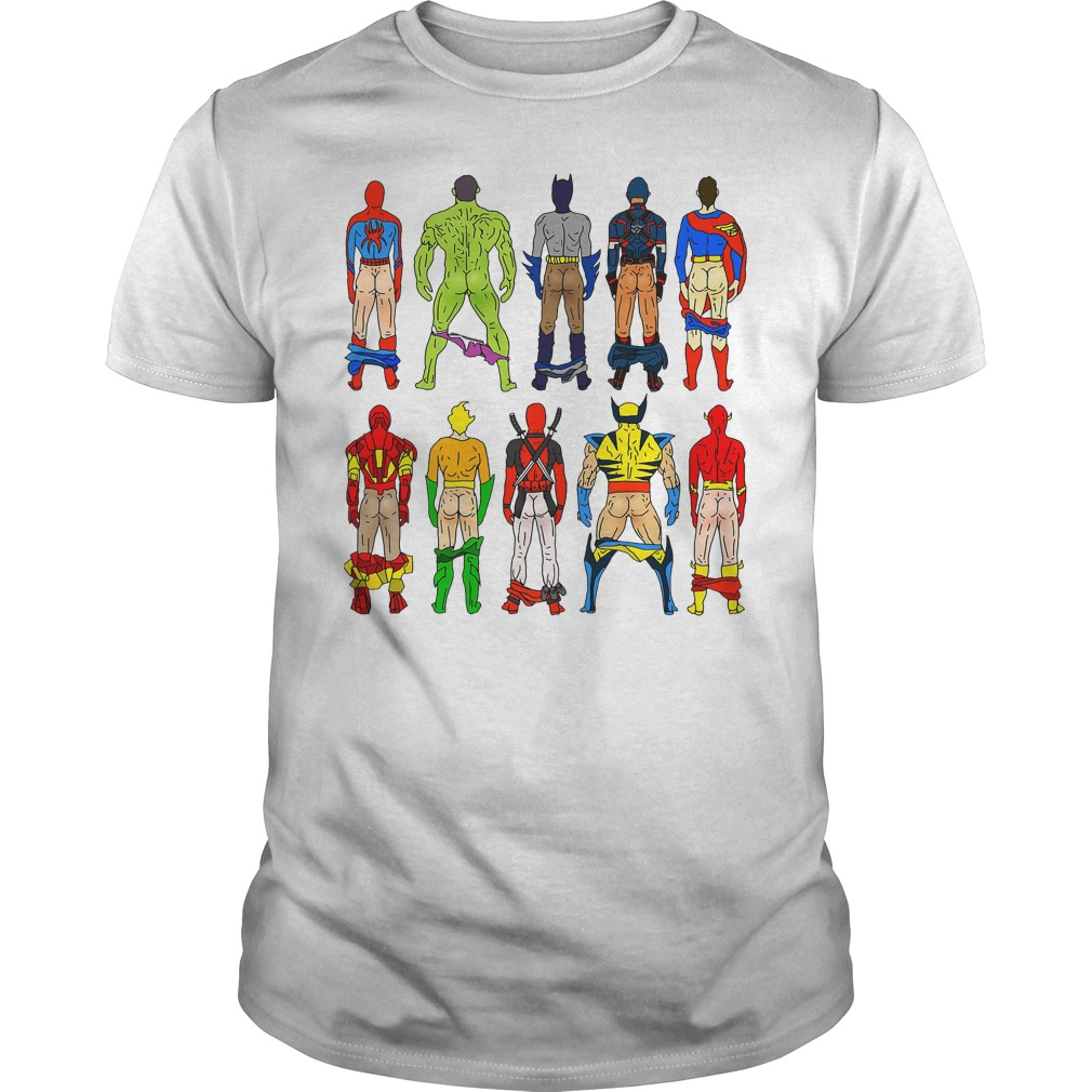 Superhero Butts Guys Shirt