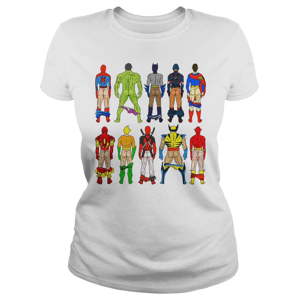 Superhero Butts Ladies Tee