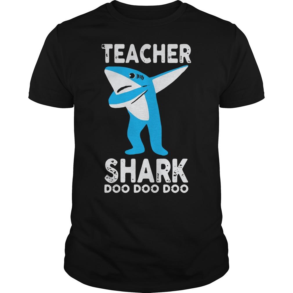 Teacher shark dabbing doo doo doo Guys Shirt