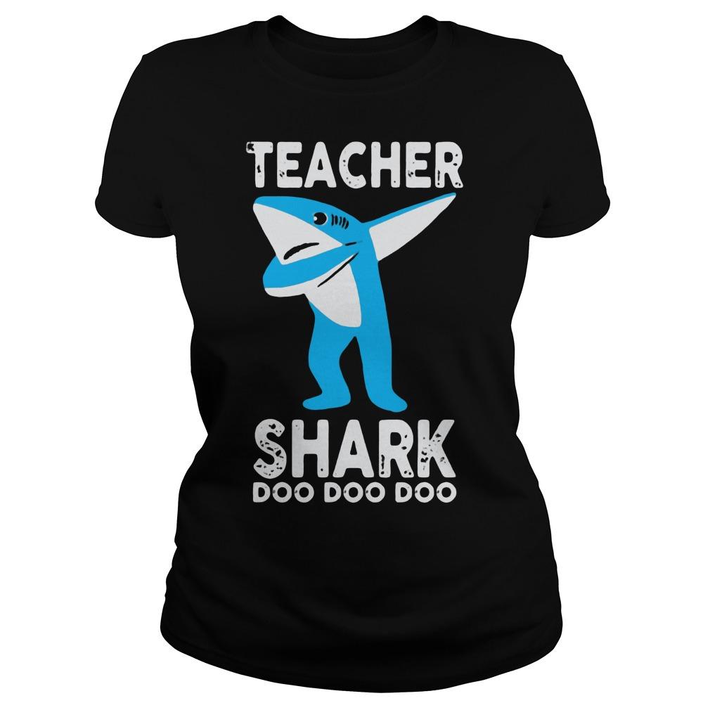 Teacher shark dabbing doo doo doo Ladies Tee