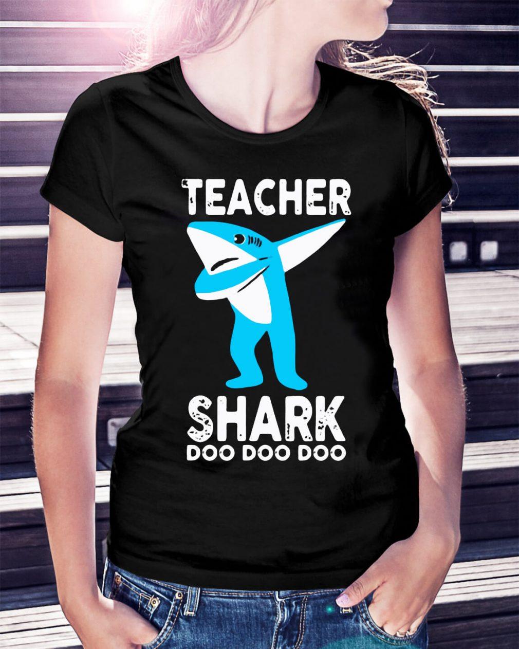 Teacher shark dabbing doo doo doo shirt