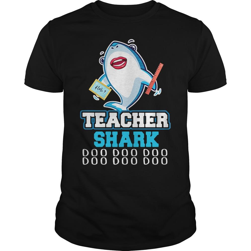 Teacher shark doo doo doo Guys Shirt