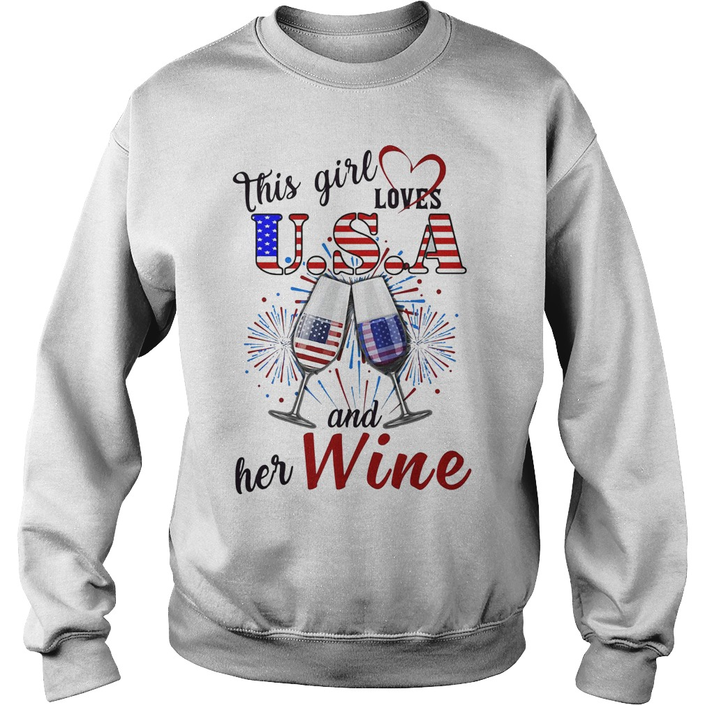 This girl loves USA and her wine Sweater