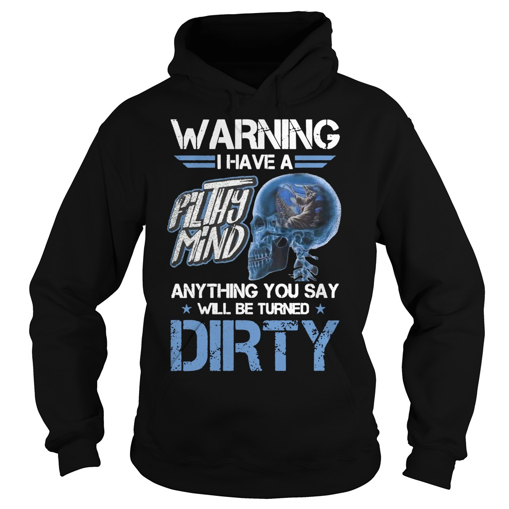 Warning I have a filthy mind anything you say will be turned dirty Hoodie