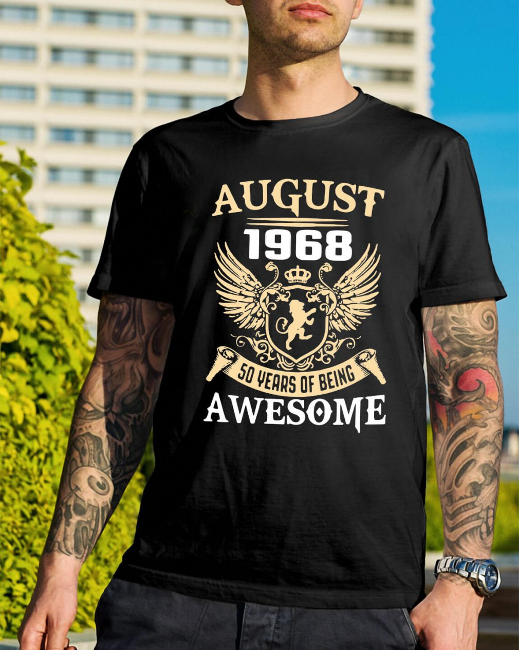 August 1968 50 years of being awesome shirt