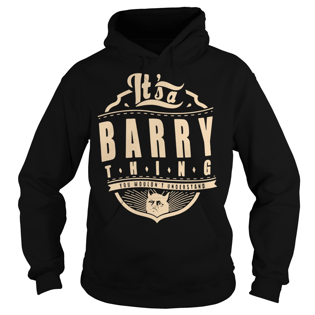 It's a barry thing you wouldn't understand Hoodie