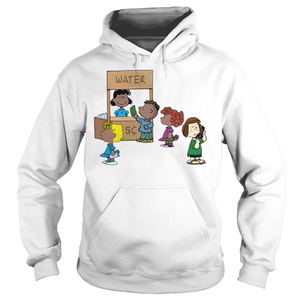 Calling police for selling water: Cute Peanuts funny permit patty Hoodie