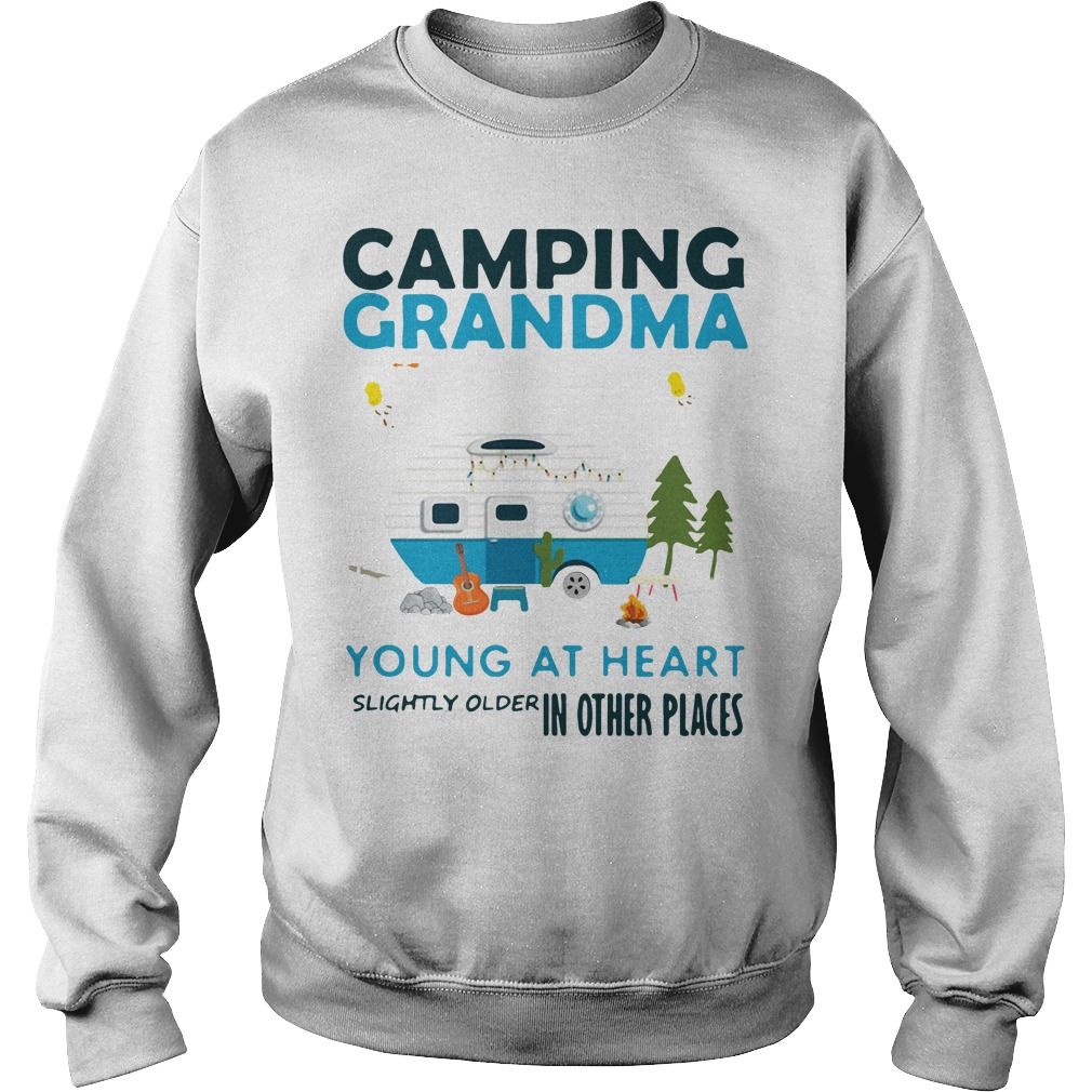 Camping grandma young at heart slightly older in other places Sweater