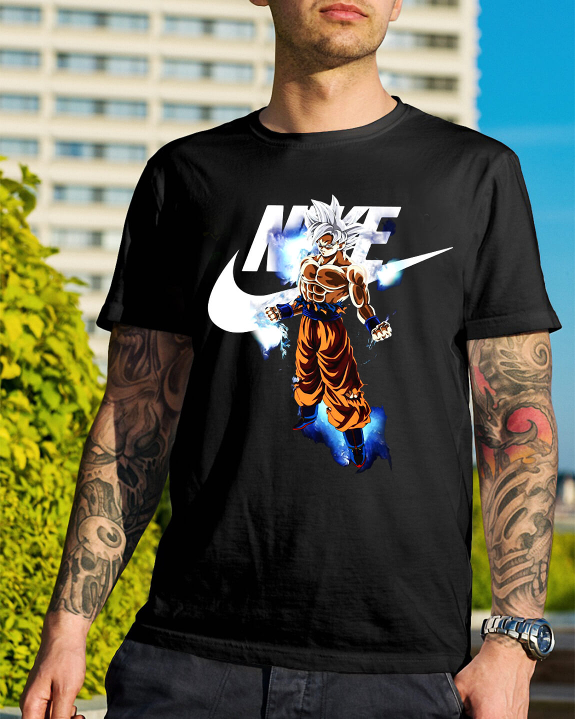 Dragon ball Songoku Ultra Instinct Nike shirt, hoodie, sweater