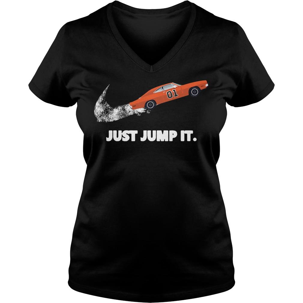The Dukes of Hazzard 01 just jump it V-neck T-shirt