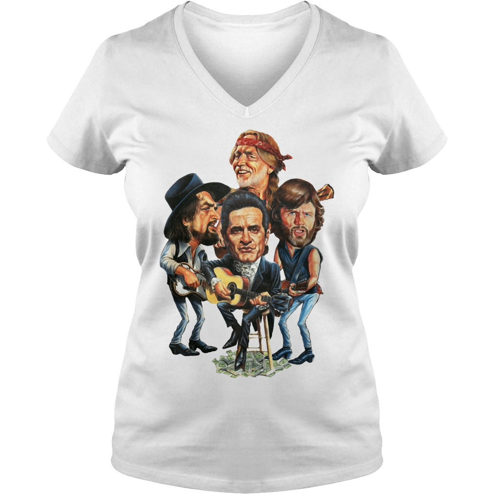 The Highwaymen group music V-neck T-shirt