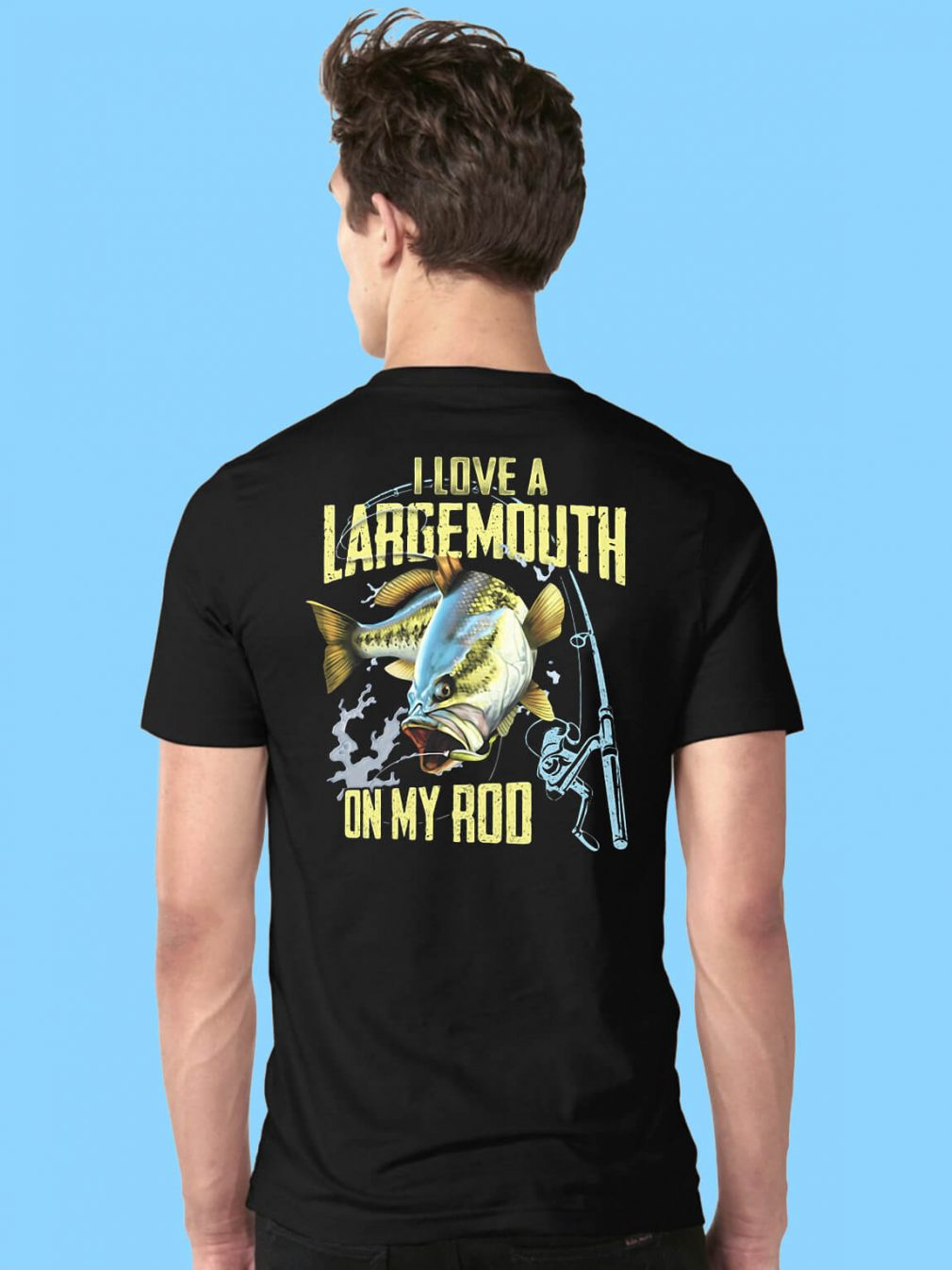 I love a Largemouth on my rod shirt