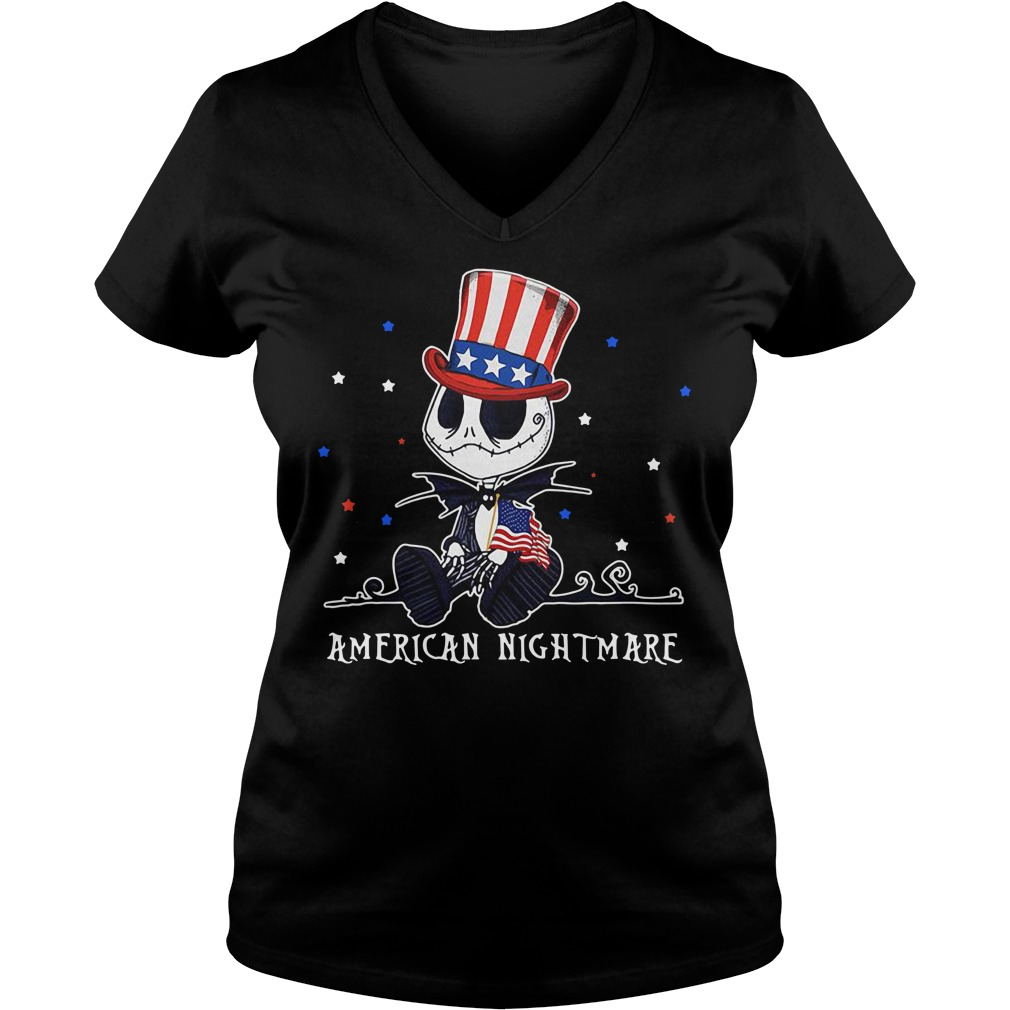 Jack Skellington American nightmare V-neck T-shirt