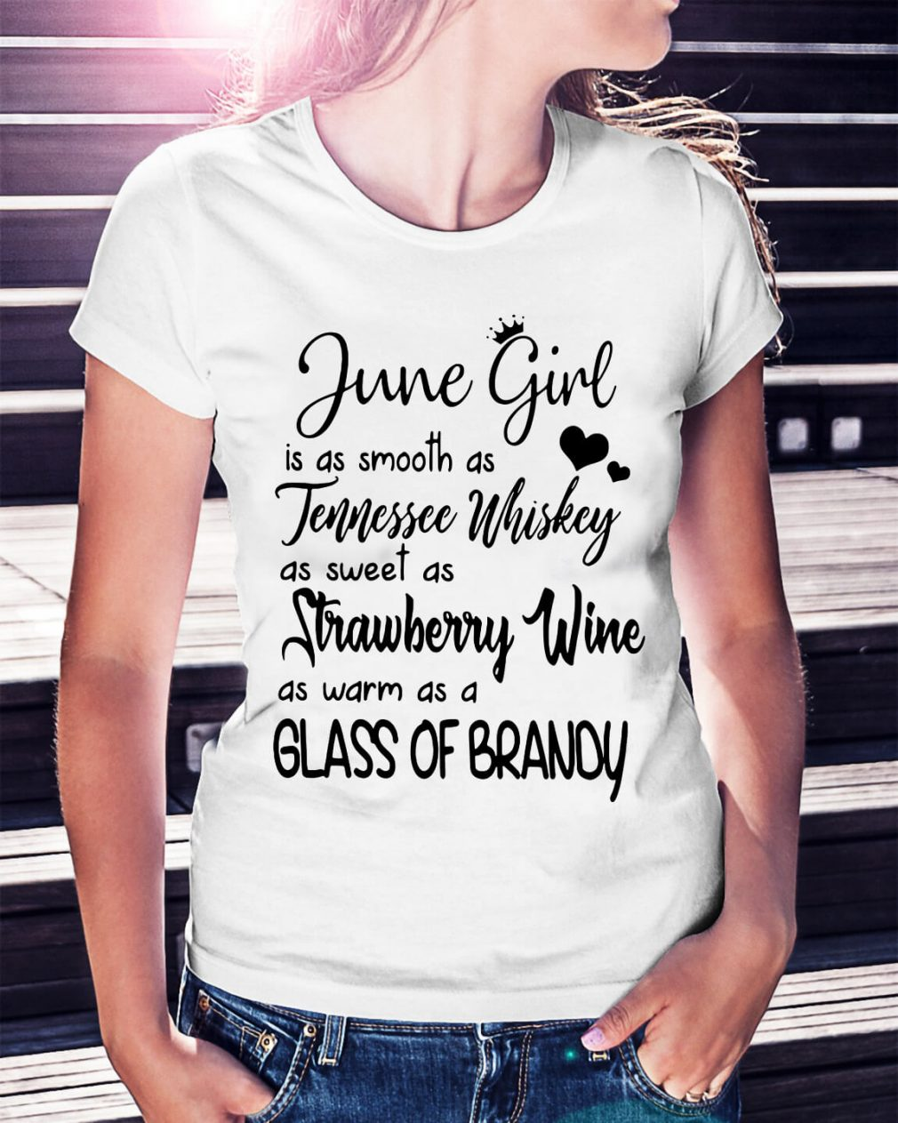 June girl is as smooth as Tennessee Whiskey shirt