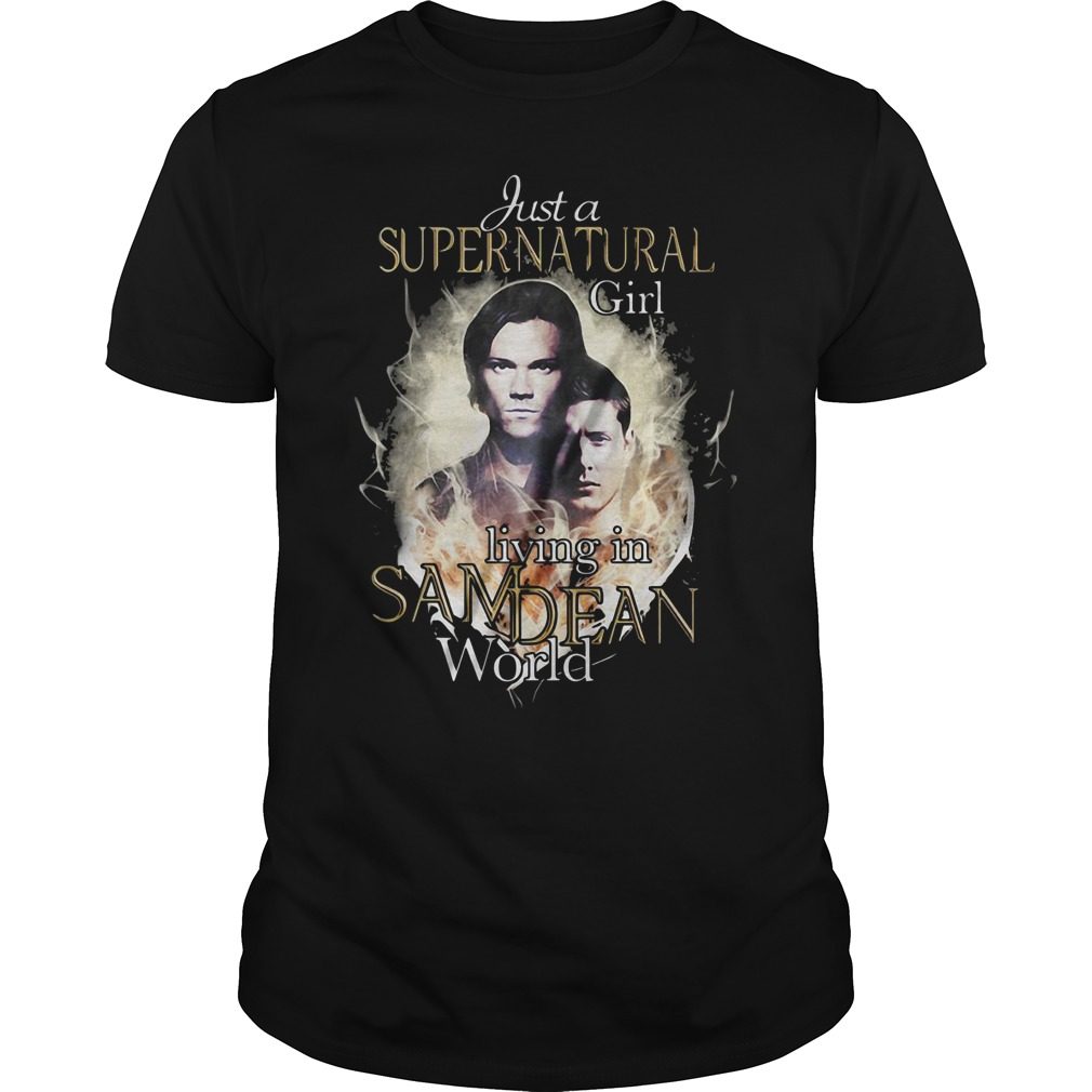 Just a supernatural girl living in Sam Dean world Guys Shirt