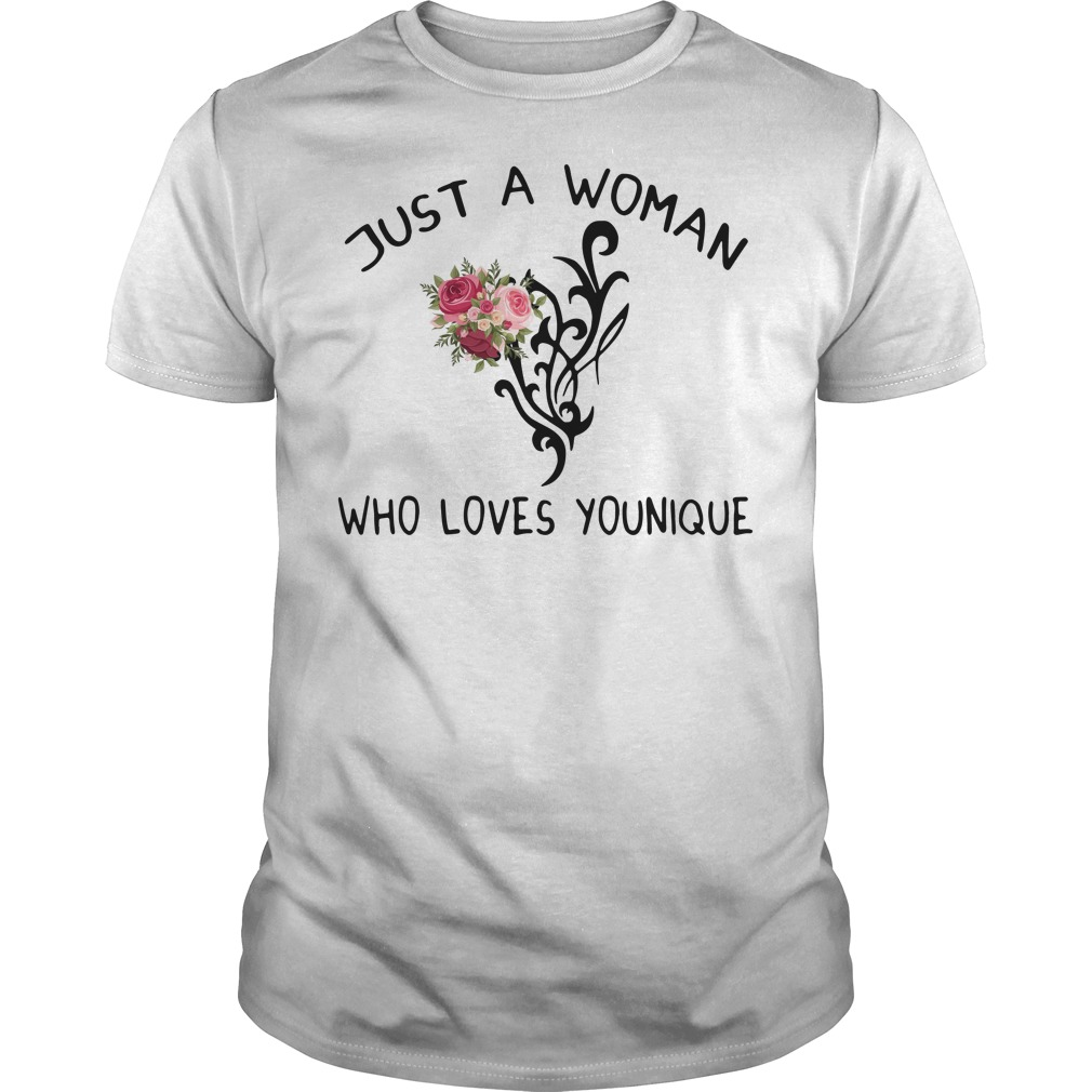Just a woman who loves younique Guys Shirt