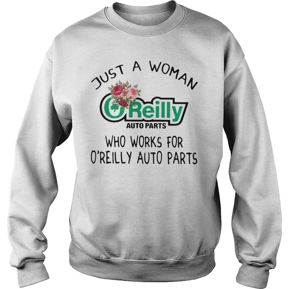Just a woman O'reilly auto parts who works for O'reilly auto parts Sweater