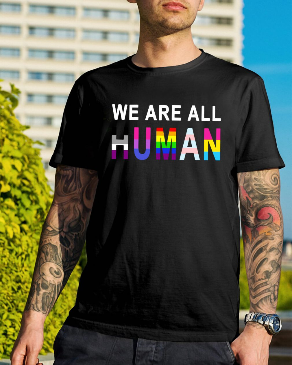 LGBT we are all human shirt