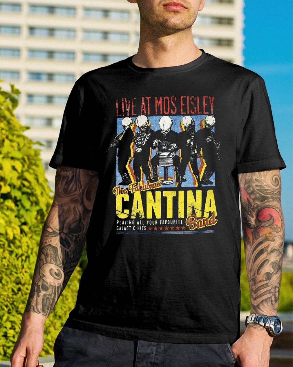 Live at Mos Eisley the Fabulous Cantina band shirt