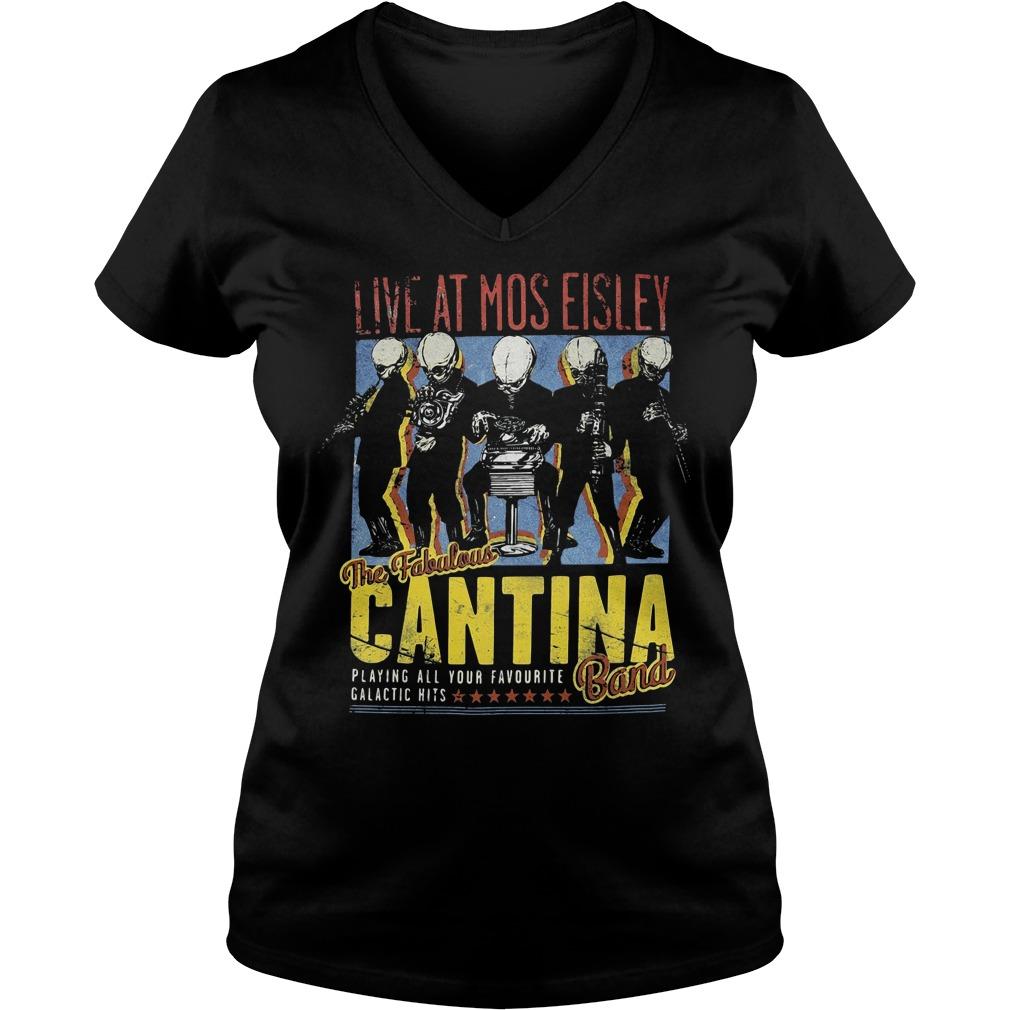 Live at Mos Eisley the Fabulous Cantina band V-neck T-shirt