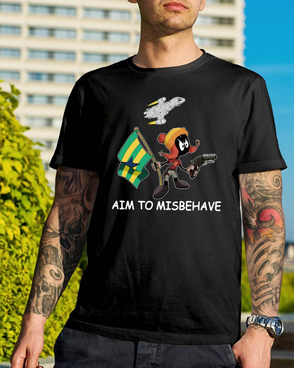 Marvin aim to misbehave shirt
