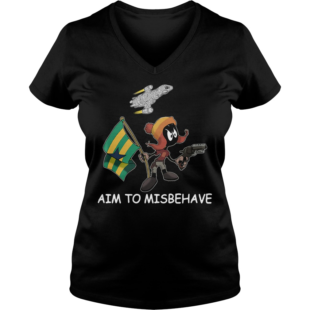 Marvin aim to misbehave V-neck T-shirt
