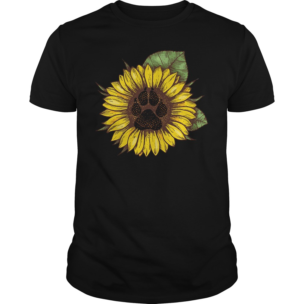 Paw dog sunflower Guys Shirt