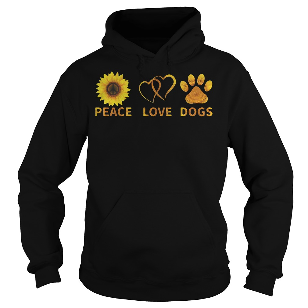 Official Peace love dogs Hoodie