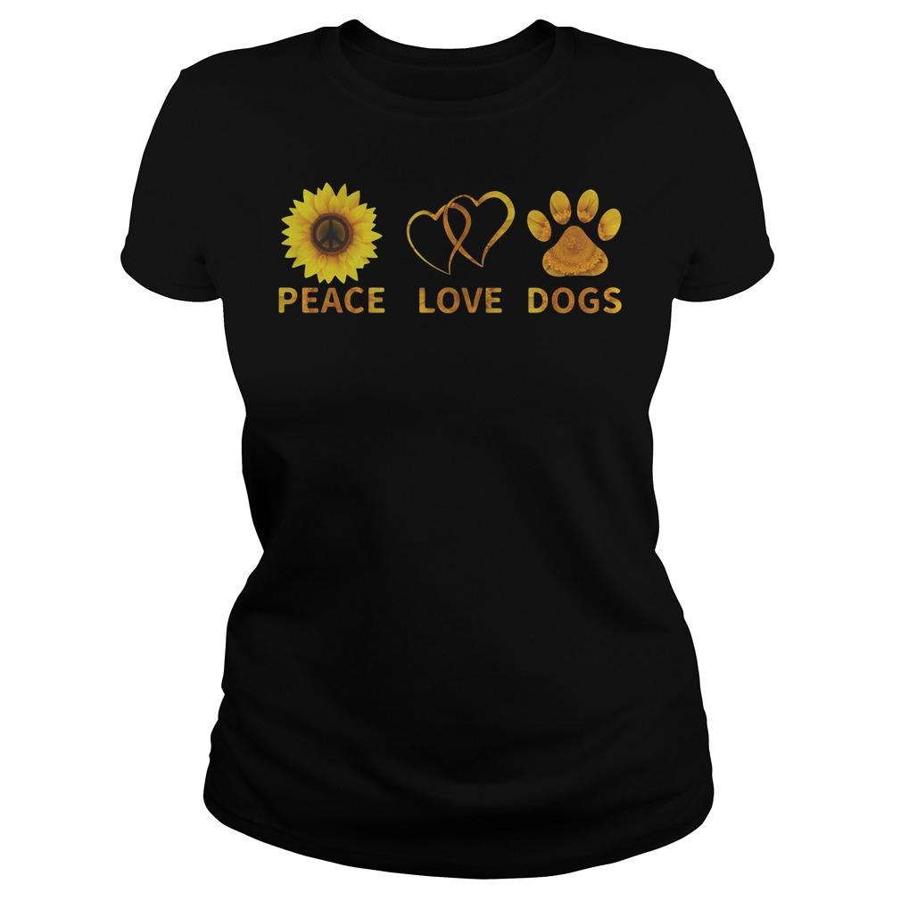 Official Peace love dogs Ladíe Tee