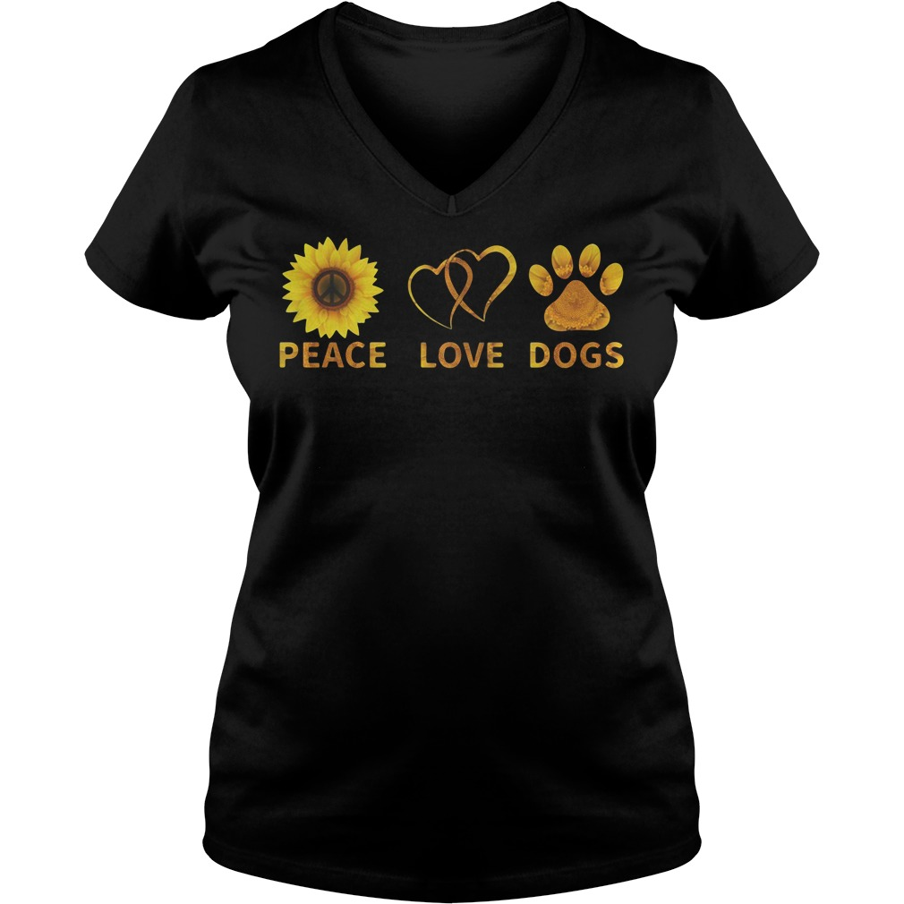 Official Peace love dogs V-neck T-shirt