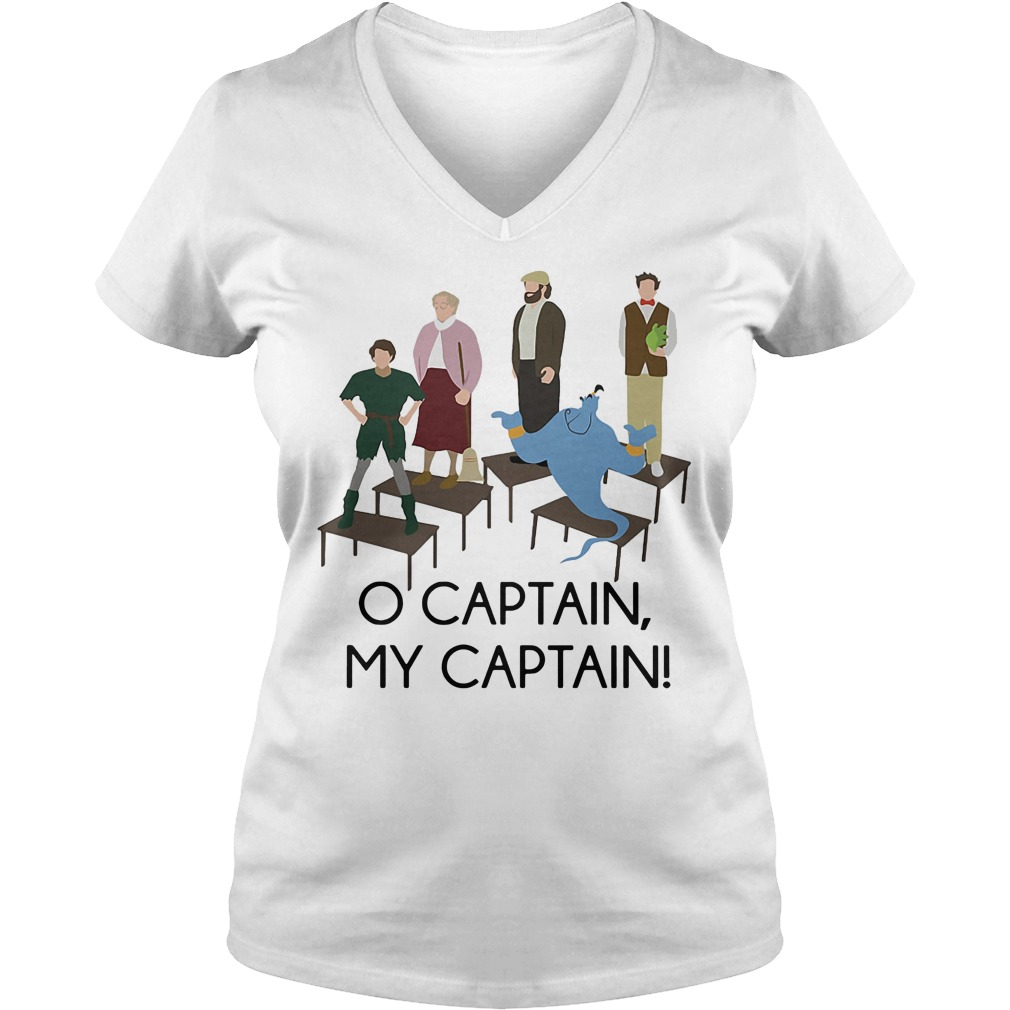 Robin Williams Tribute O captain my captain V-neck T-shirt