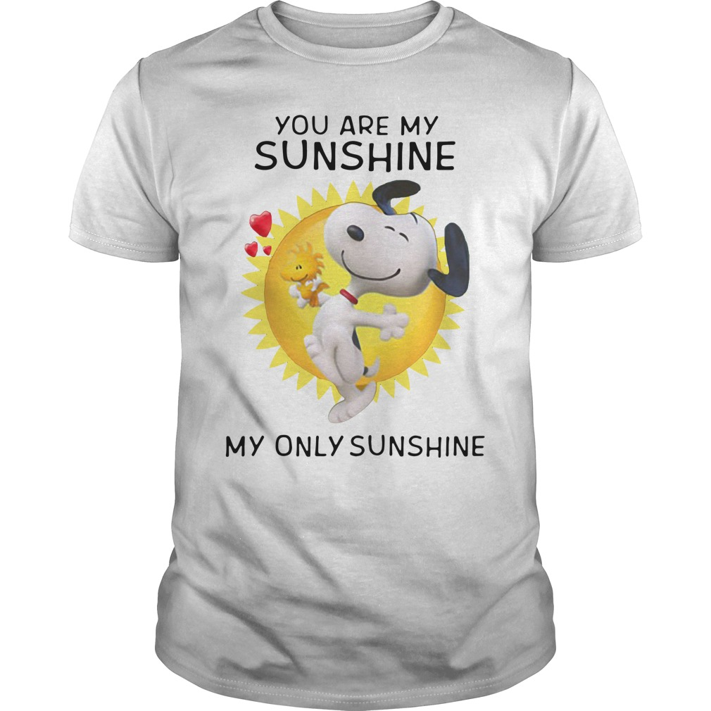 Snoopy and Woodstock you are my sunshine my only sunshine Guys Shirt