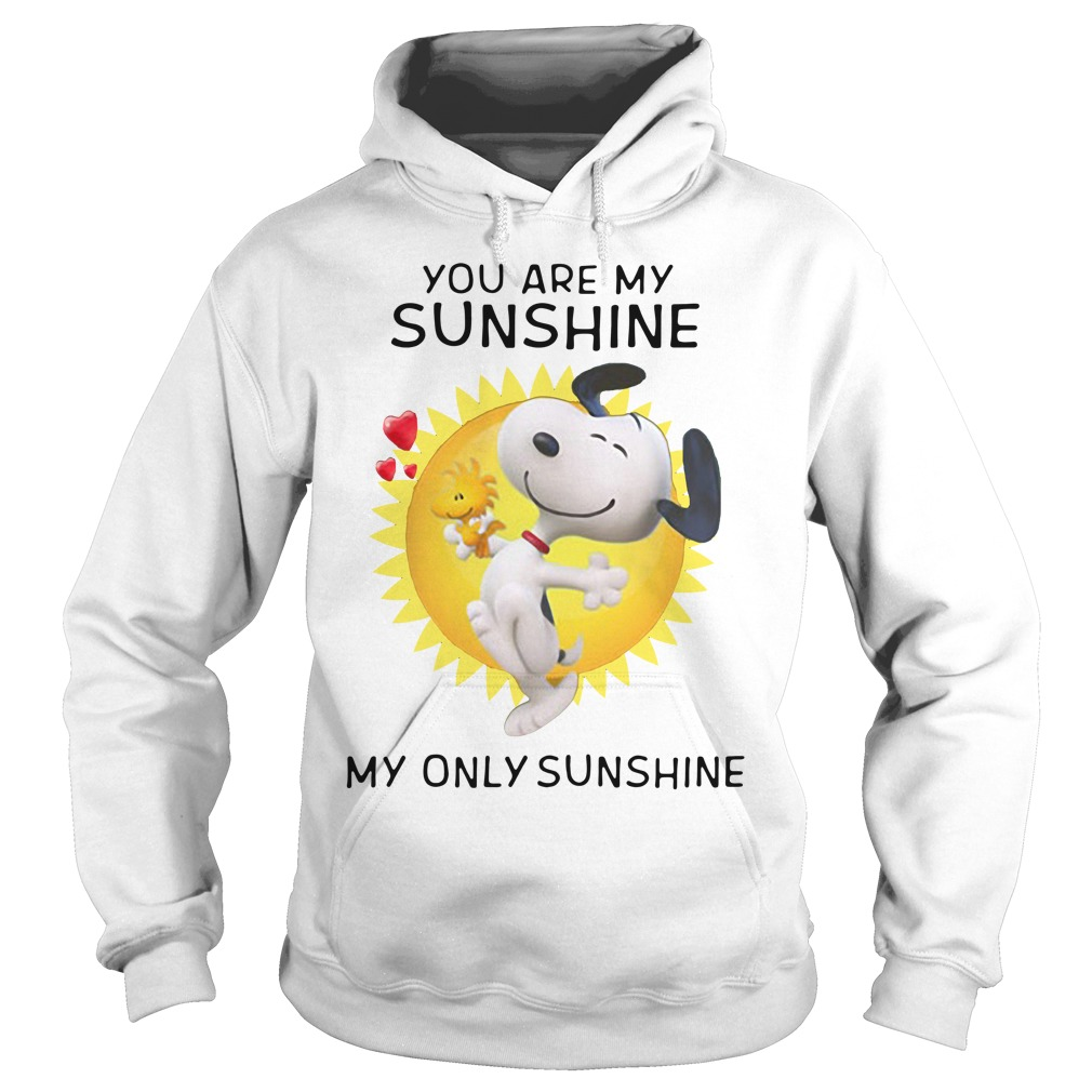 Snoopy and Woodstock you are my sunshine my only sunshine Hoodie