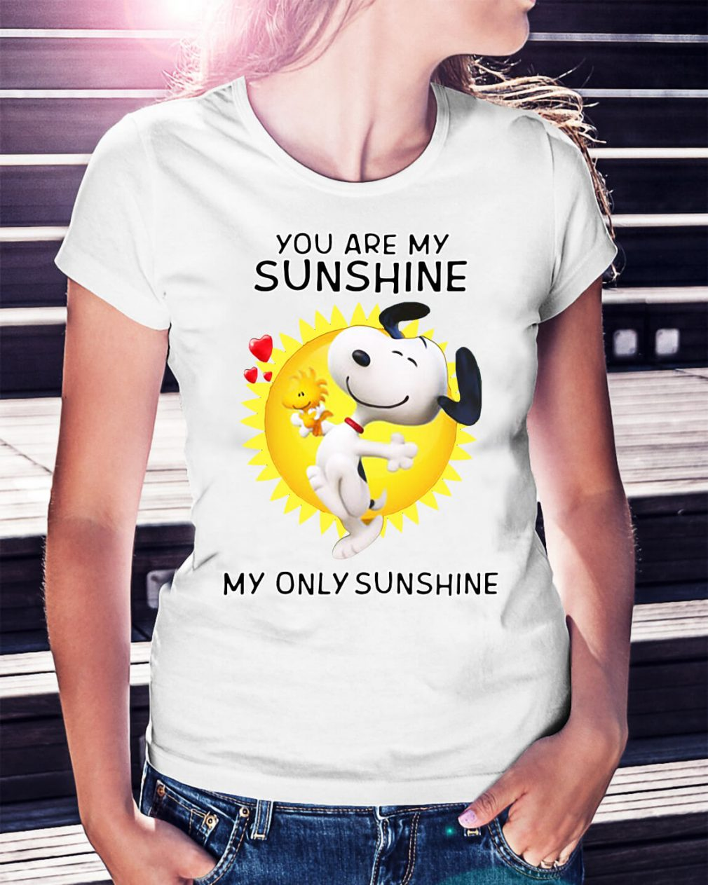 Snoopy and Woodstock you are my sunshine my only sunshine shirt