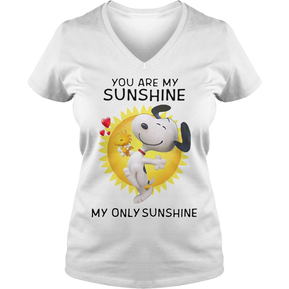 Snoopy and Woodstock you are my sunshine my only sunshine V-neck T-shirt