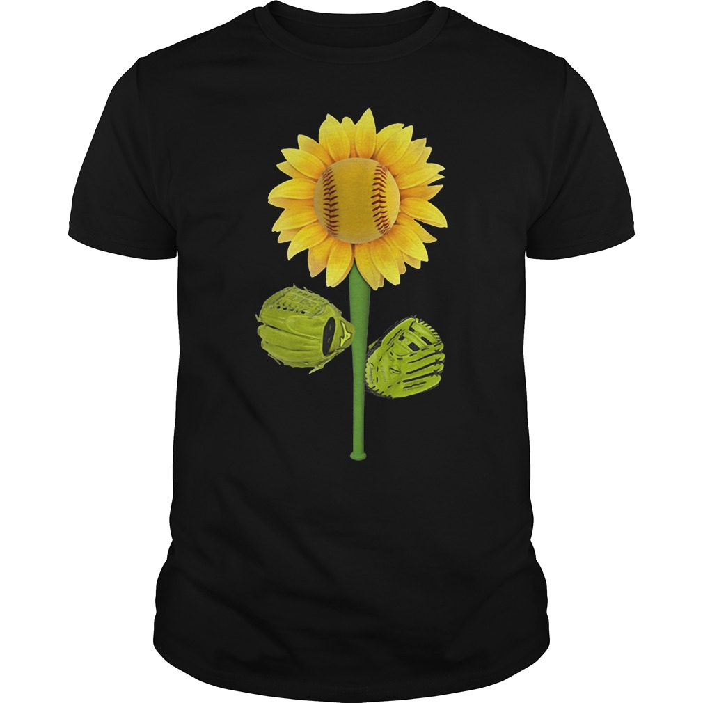 Sunflower baseball Guys Shirt