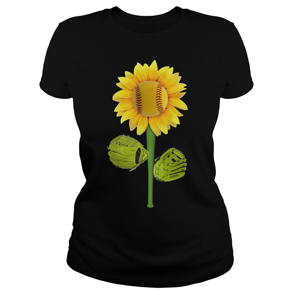 Sunflower baseball Ladies Tee