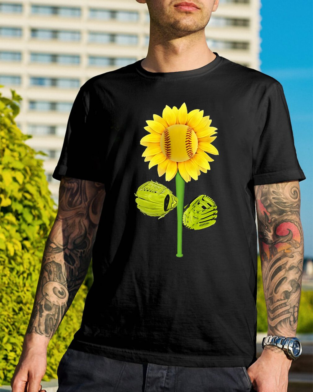 Sunflower baseball shirt