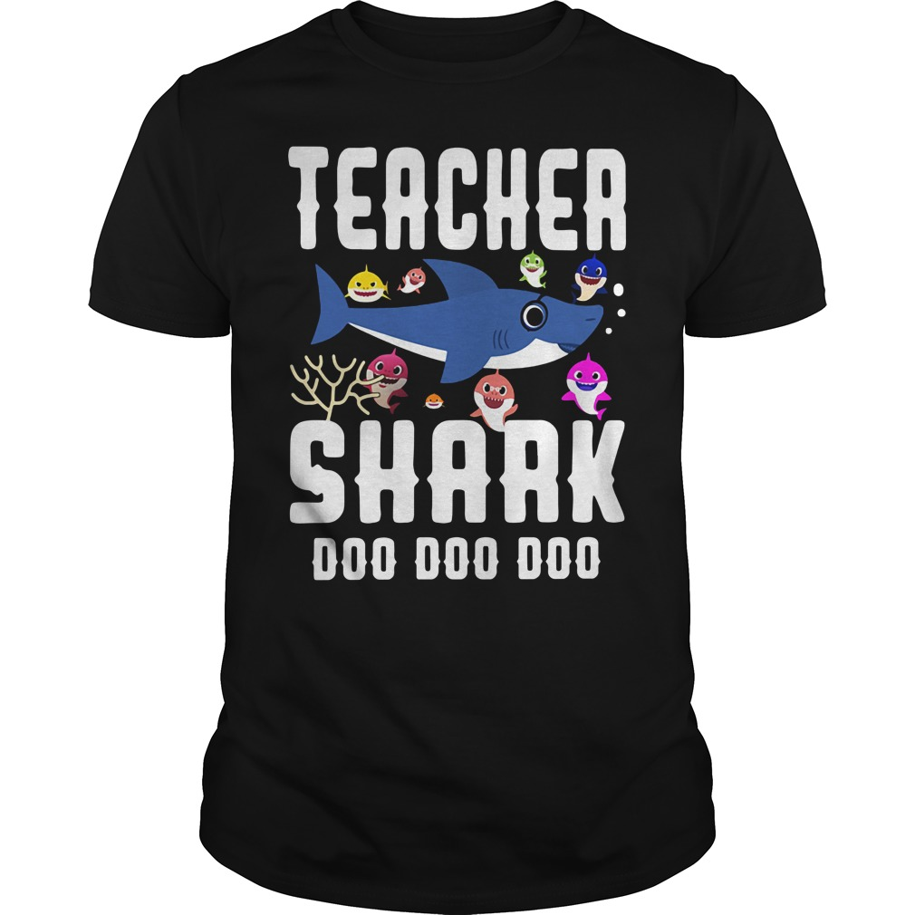 Teacher baby shark doo doo doo Guys Shirt