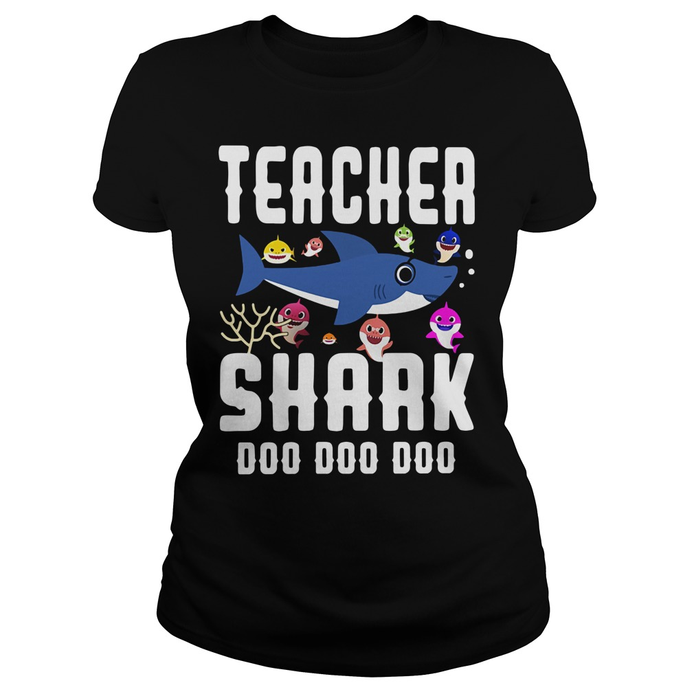 Teacher baby shark doo doo doo Ladies Tee