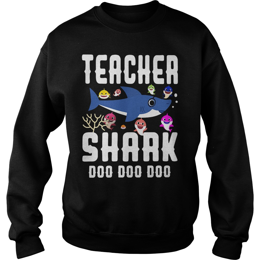 Teacher baby shark doo doo doo Sweater