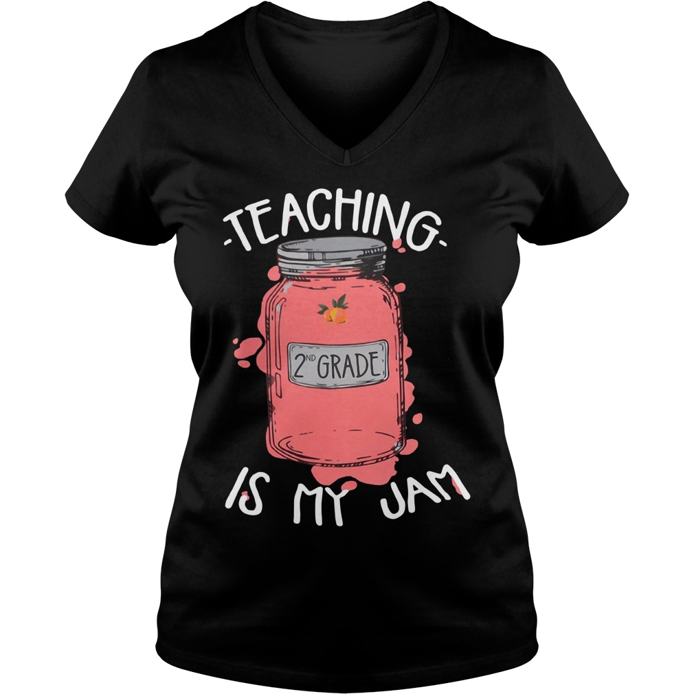Teaching 2nd grade is my jam V-neck T-shirt